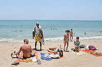 Aurovil beach is a hot spot for sunbathers and swimmers in Pondicherry. Arindam Mukherjee