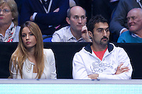 Team Tipsarevic watching Janko Tipsarevic (SRB) (9) against Tomas Berdych (CZE) (7) in the round robin stage of the Barclays ATP World Tour Finals. ..@AMN IMAGES, Frey, Advantage Media Network, Level 1, Barry House, 20-22 Worple Road, London, SW19 4DH.Tel - +44 208 947 0100.email - mfrey@advantagemedianet.com.www.amnimages.photoshelter.com.
