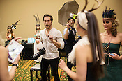 Dueling photographers, backstage at Redress Raleigh, 5th Annual Eco-Fashion Show, Saturday, March 23, 2013.