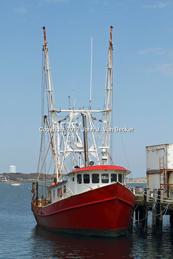 Commercial fishing trawler moored in provincetown cape for Mass commercial fishing