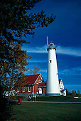 Tawas Point Lighthouse, East Tawas, Michigan, Lake Huron.