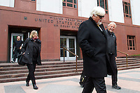 PAUL WATSON, Founder of the Sea Shepherd Conservation Society, exists the United States Court of Appeals, Ninth Circuit in Seattle, Washington on November 6, 2013. The Institute of Cetacean Research, Kyodo Senpaku Kaisha, Ltd., Tomoyuki Ogawa, Toshiyuki Miura and Hiroyuki Komura is accusing him of interfering with their whale hunt in the Southern Ocean, potentially violating an injunction issued by the court last December 2012. (copyright Karen Ducey/KarenDucey.com)