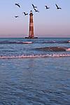 Morris Island Lighthouse at sunset