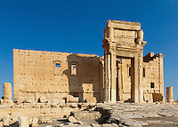 Cella or Inner Temple  of the Temple of Bel, Palmyra, Syria. Ancient city in the desert that fell into disuse after the 16th century.