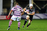 Dave Attwood of Bath Rugby in possession. European Rugby Challenge Cup match, between Bath Rugby and Cardiff Blues on December 15, 2016 at the Recreation Ground in Bath, England. Photo by: Patrick Khachfe / Onside Images