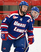 Chad Ruhwedel (UML - 3), Derek Arnold (UML - 29) - The visiting University of Massachusetts Lowell River Hawks defeated the Harvard University Crimson 5-0 on Monday, December 10, 2012, at Bright Hockey Center in Cambridge, Massachusetts.