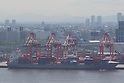 May 23, Tokyo, Japan - A container ship is docked at a cargo area at a port in Tokyo. According to the Ministry of Finance Japan report, the country acquired a trade balance of 520.27 billion yen in April, compared with 470.8 billion yen in the previous year. Exports increased 7.9 percent from a year earlier which was below the expected 11.8 increase economists had hoped for. Imports, on the other hand, saw a 8.0 percent increase to 6.087 trillion yen. (Photo by: Christopher Jue/AFLO)
