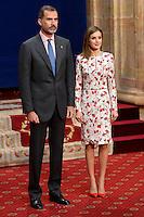 OCT 21 King Felipe and Queen Letizia Princess of Asturias awards medals in Oviedo