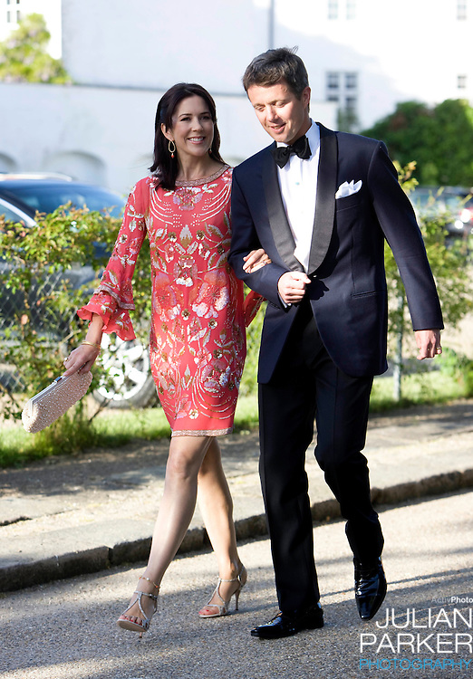 Crown Prince Frederik and Crown Princess Mary of Denmark arrive for a Dinner Party at Fredensborg Palace, in Denmark, to celebrate Crown Prince Frederiks 40th Birthday. Crown Prince Frederik turned 40 on May 26th