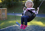 Paisley, 5, enjoys the swing in a local park in Hyden on Thursday, Oct. 10, 2013. Photo by Erin McLaughlin