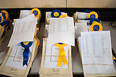 Rosettes and certificates, Prize Giving evening, state Roman Catholic Secondary School.