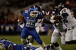 Kentucky Wildcats running back Jonathan George (25) defends the ball during the first half of the UK Football game v. Samford at Commonwealth Stadium in Lexington, Ky., on Saturday, November 17, 2012. Photo by Genevieve Adams | Staff
