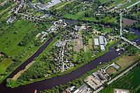 Insel zwischen Schleusenkanal und Doveelbe: EUROPA, DEUTSCHLAND, HAMBURG 17.05.2014: Insel zwischen Schleusenkanal und Doveelbe