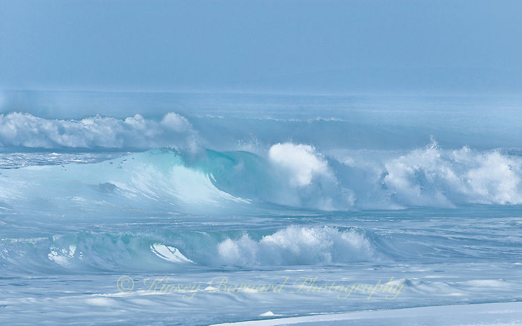 &quot;CELESTIAL WAVES&quot;<br /> <br /> Rolling crashing waves come in from a stormy sea.