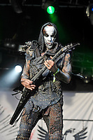 DERBYSHIRE, ENGLAND - AUGUST 12: Adam Darski of 'Behemoth' performing at Bloodstock Open Air Festival, Catton Park on August 12, 2016 in Derbyshire, England.<br /> CAP/MAR<br /> &copy;MAR/Capital Pictures /MediaPunch ***NORTH AND SOUTH AMERICAS ONLY***