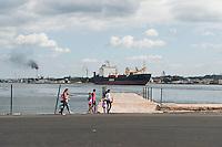 Docks scene Havana Cuba. 12-12-10