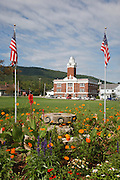 Town Park at the junction of Routes 16 and 2 in Gorham, New Hampshire USA