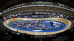 19.02.2012 London England.  A general view of the Veledrome at the UCI Track Cycling World Cup at the London Olympic Velodrome. Part of the London Prepares Series of events organised by LOCOG, London Organising Committee Olympic Games. Mandatory Credit: Mitchell Gunn