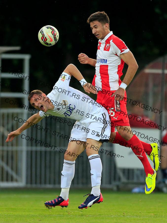 Fudbal Jelen Super League season 2014-2015 <br /> Cukaricki v Crvena Zvezda<br /> Marko Grujic (R) and Nikola Stojiljkovic<br /> Beograd, 10.05.2015.<br /> foto: Srdjan Stevanovic/Starsportphoto&copy;