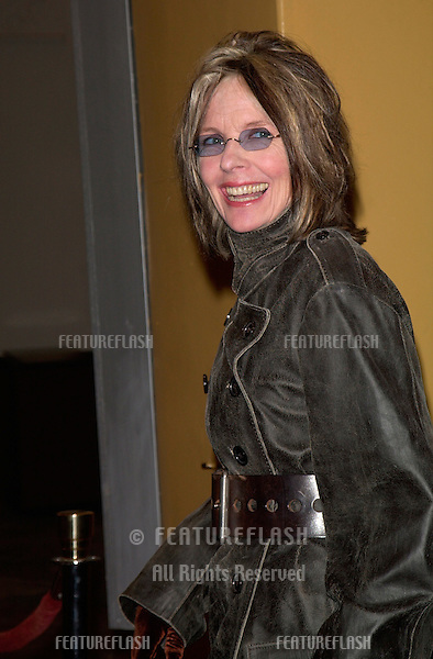 Actress DIANE KEATON at the world premiere, in Los Angeles, of What Women Want..13DEC2000.  © Paul Smith / Featureflash