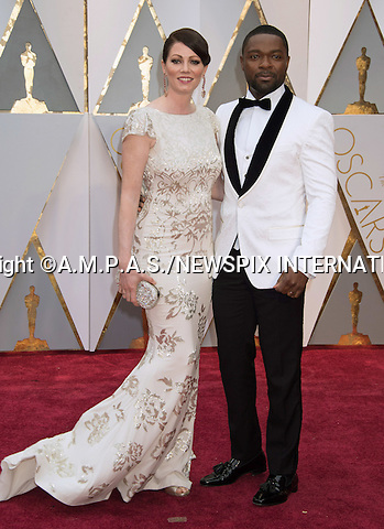 26.02.2017; Hollywood, USA: DAVID OYELOWO and JESSICA OYELOWO<br /> attends The 89th Annual Academy Awards at the Dolby&reg; Theatre in Hollywood.<br /> Mandatory Photo Credit: &copy;AMPAS/NEWSPIX INTERNATIONAL<br /> <br /> IMMEDIATE CONFIRMATION OF USAGE REQUIRED:<br /> Newspix International, 31 Chinnery Hill, Bishop's Stortford, ENGLAND CM23 3PS<br /> Tel:+441279 324672  ; Fax: +441279656877<br /> Mobile:  07775681153<br /> e-mail: info@newspixinternational.co.uk<br /> Usage Implies Acceptance of Our Terms &amp; Conditions<br /> Please refer to usage terms. All Fees Payable To Newspix International