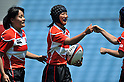 (L to R) Ayaka Suzuki (JPN), Chikami Inoue (JPN), .MAY 19, 2012 - Rugby : Woman's Rugby Test match between Japan women's 61-15 Hong Kong women's at Chichibunomiya Rugby Stadium, Tokyo, Japan. (Photo by Jun Tsukida/AFLO SPORT)