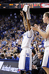 UK guard Ryan Harrow cheers for his team during the first half of the men's basketball game against Mississippi State at Rupp Arena in Lexington, Ky. on Saturday, February 27, 2013. Photo by Genevieve Adams