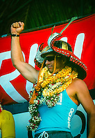 Gary 'Kong' Elkerton (AUS), the winner of the 1989 Marui Pipeline Masters held at the Banzai Pipeline on the North Shore of Oahu, Hawaii.   Photo: joliphotos.com
