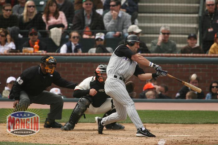 Luis Gonzalez. Baseball: Arizona Diamondbacks vs San Francisco Giants at AT&T Park in San Francisco, CA on April 29, 2006. Photo by Brad Mangin