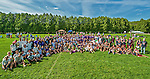 25 May 2014: The Vermont High Schools pose for their photo after the conclusion of the VYUL State Ultimate Disk Championships at the Tree Farm Recreational Facility in Essex Junction, Vermont. Mandatory Credit: Ed Wolfstein Photo