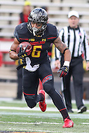 College Park, MD - November 26, 2016: Maryland Terrapins running back Ty Johnson (6) in action during game between Rutgers and Maryland at  Capital One Field at Maryland Stadium in College Park, MD.  (Photo by Elliott Brown/Media Images International)