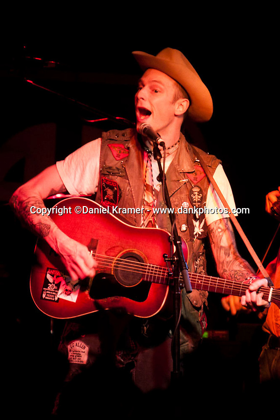 Hank Williams III performs at the Meridian club in Houston, 2009.