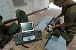 "Soldiers of the ""Skylark"" UAV unit fold the tool, at Palmachim Israeli Airforce base."