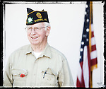 Veteran John Arrechea poses for a photo at a Veterans Day Program at the Oxford Conference Center in Oxford, Miss. on Thursday, November 11, 2010.