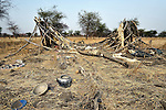 The remains of a destroyed house in Mijak, a village in the contested Abyei region from which residents fled in 2011 after an attack by soldiers and militias from the northern Republic of Sudan. Although the 2005 Comprehensive Peace Agreement called for residents of Abyei--which sits on the border between Sudan and South Sudan--to hold a referendum on whether they wanted to align with the north or the newly independent South Sudan, the government in Khartoum and northern-backed Misseriya nomads, excluded from voting as they only live part of the year in Abyei, blocked the vote and attacked the majority Dinka Ngok population. The African Union has proposed a new peace plan, including a referendum to be held in October 2013, but it has been rejected by the Misseriya and Khartoum. The Catholic parish of Abyei, with support from Caritas South Sudan and other international church partners, has maintained its pastoral presence among the displaced and assisted them with food, shelter, and other relief supplies.