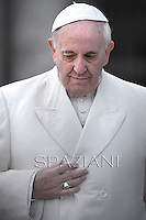 Pope Francis during his weekly general audience in St. Peter square at the Vatican, Wednesday.January 15, 2014.