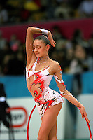 "Evgenia Kanaeva of Russia performs with hoop during seniors All-Around at 2007 World Cup Kiev, ""Deriugina Cup"" in Kiev, Ukraine on March 16, 2007."