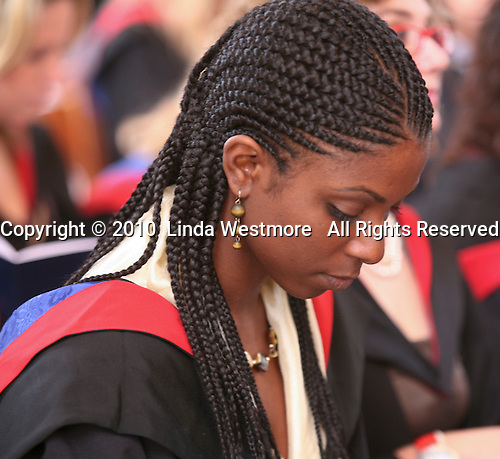 Post-graduate students at the Graduation Ceremony, University of Surrey.