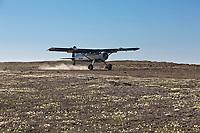 Coyote Air, de Havilland beaver bush plane, Utukok uplands, National Petroleum Reserve Alaska, Arctic, Alaska.