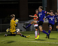 The number 24 ranked Furman Paladins took on the number 20 ranked Clemson Tigers in an inter-conference game at Clemson's Riggs Field.  Furman defeated Clemson 2-1.  Manolo Sanchez (8), Michael Gandier (18), Sven Lissek (1)