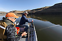 WA11784-00...WASHINGTON - Jim Johansen and Phil Russell fishing the Snake River near Lyons Ferry. (MR# J5 - R8)