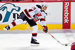 9 January 2010: New Jersey Devils' defenseman Bryce Salvador in action against the Montreal Canadiens at the Bell Centre in Montreal, Quebec, Canada. The Devils edged out the Canadiens 2-1 in overtime. Mandatory Credit: Ed Wolfstein Photo