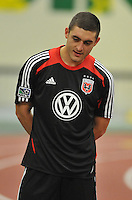 D.C. United defender Chris Korb during the pre-season fitness training session at George Manson University before departing for Bradenton Florida to get ready for the 2013 season, Friday January 18, 2013.