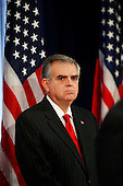 Chicago, IL - December 19, 2008 -- United States Representative Ray LaHood (Republican of Illinois) appears at a press conference with United States President-elect Barack Obama after being nominated as Secretary of Transportation, Friday afternoon, December 19, 2008 at The Drake Hotel in Chicago, Illinois.  .Credit: Anne Ryan - Pool via CNP