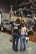 Truck week in Kansas City, Missouri. September 9, 1978. The annual truck week happened in Kansas City where truck drivers gathered from all over USA to see the new production of all truck factories around the world. They also have dance, concert, best of the show, and union meetings. Visitors at the Truck Show