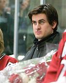 Rence Coassin (Harvard - 17) - The Harvard University Crimson defeated the visiting Clarkson University Golden Knights 3-2 on Harvard's senior night on Saturday, February 25, 2012, at Bright Hockey Center in Cambridge, Massachusetts.