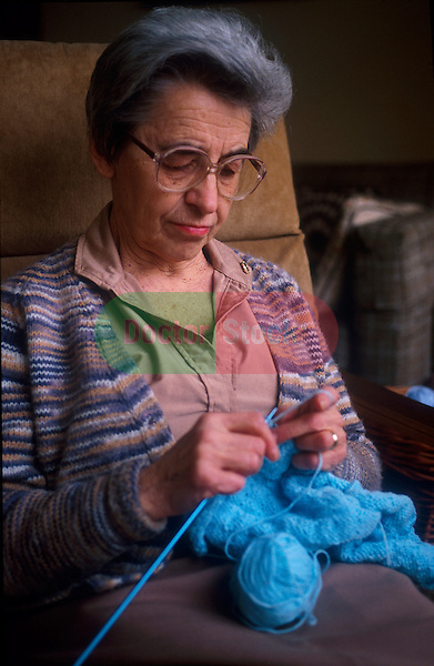 Old Lady Knitting Images : Prn ds doctor stock