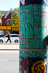 Kensington Market is a distinctive multicultural neighbourhood in Downtown Toronto, Ontario, Canada. The Market is an older neighbourhood and one of the city's most well-known. In November 2006, it was designated a National Historic Site of Canada.Its approximate borders are College St. on the north, Spadina Ave. on the east, Dundas St. W. to the south, and Bellevue Ave. to the west. Most of the neighbourhood's eclectic shops, cafes, and other attractions are located along Augusta Ave. and neighbouring Nassau St., Baldwin St., and Kensington Ave.