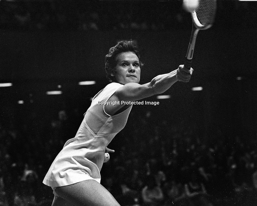 Virgiania Slims tennis event at the Civic Auditiorium in San Francisco,<br />