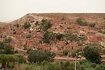 Berber Village, on hillside, Atlas Mountains, Near Asni, Marrakech, Morocco